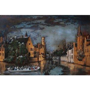 Metalen 3d schilderij Brugge