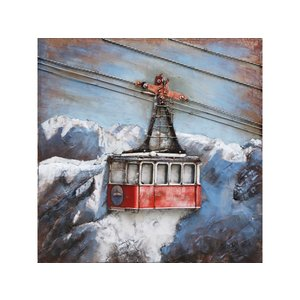 Metal 3d painting Ski lift