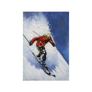 Metal 3d painting Skier