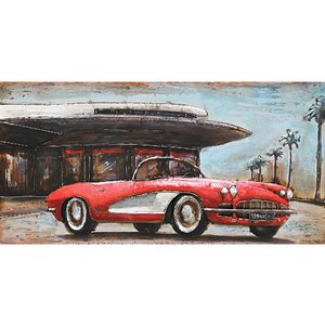 Metal 3d painting Corvette