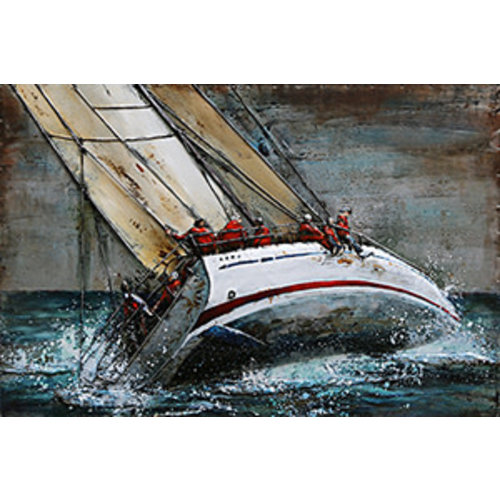 Metalen 3d schilderij Zeilboot