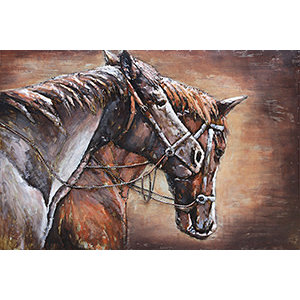 Metalen 3d schilderij Paarden