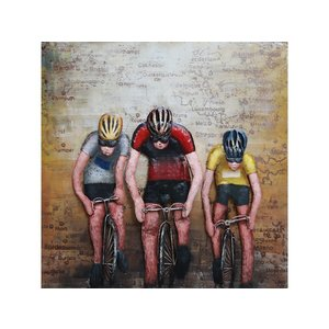 Metal 3d painting Cyclists