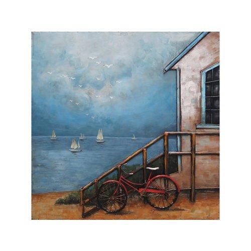 Metalen 3d schilderij Strandhut