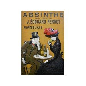 Metalen 3d schilderij Absinthe