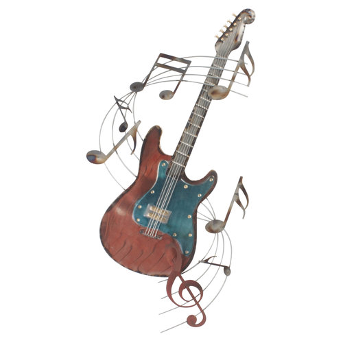 3D Wall Deco Guitar with musical notes