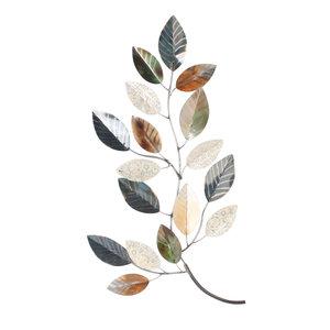 Wanddeco Tak met bladeren