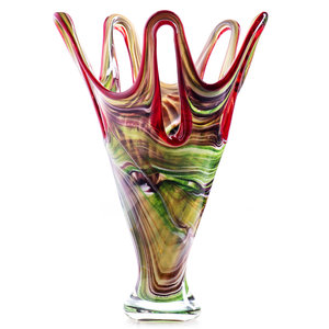 Glasvaas multi color 41 cm.
