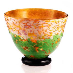 Glass round vase 28 cm.
