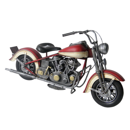 Miniaturmodell Motor rot / weiß