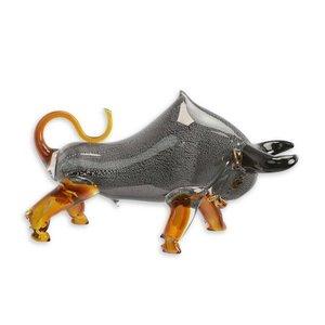 glas beeld Bull stier grijs 50cm