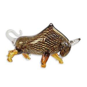 Glass bull bull brown stripes
