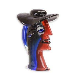Glazen beeld Vrouw met hoed