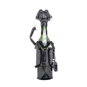 Wine bottle holder business man