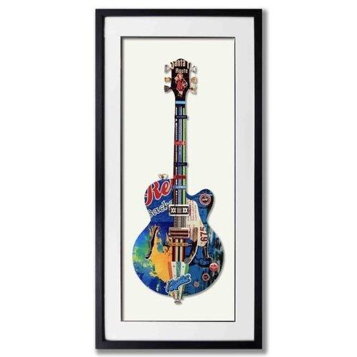 Paper Art Guitar Blue 50x100 cm.
