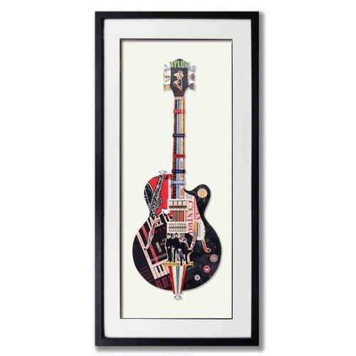 Paper Art Guitar black 50x100 cm.