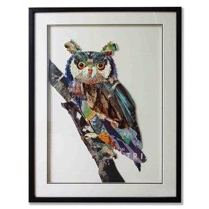 Paper Art Uil 60x80 cm.