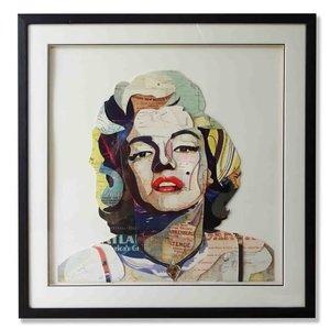 Schilderij Paper Art Marilyn Monroe 75x75 cm.