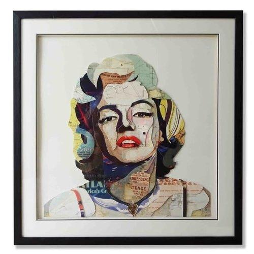 Paper Art Marilyn Monroe 75x75 cm.