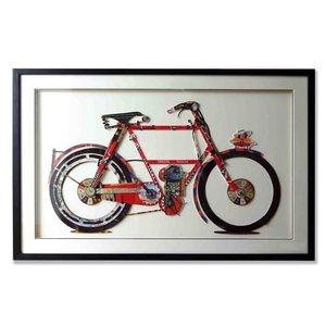 Papierkunst Fahrrad 107x69 cm.