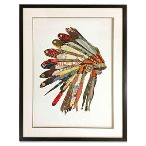 Papierkunst Indische Dekoration 60x80 cm.