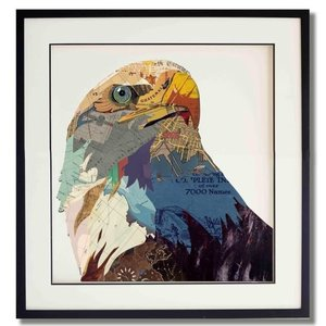 Schilderij Paper Art Eagle 75x75 cm.