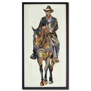 Papierkunst Cowboy 5x100 cm.