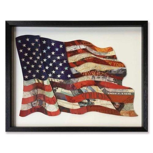 Paper Art Flag USA 82x64 cm.
