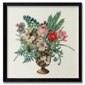 Papierkunst Blumen 65x65 cm.