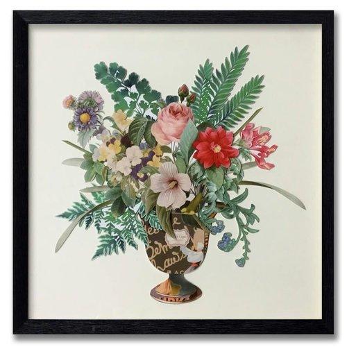 Schilderij Paper Art Flowers 65x65 cm.