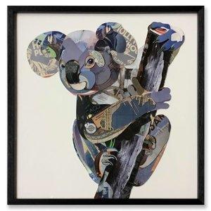 Schilderij Paper Art Koala Beer 65x65 cm.