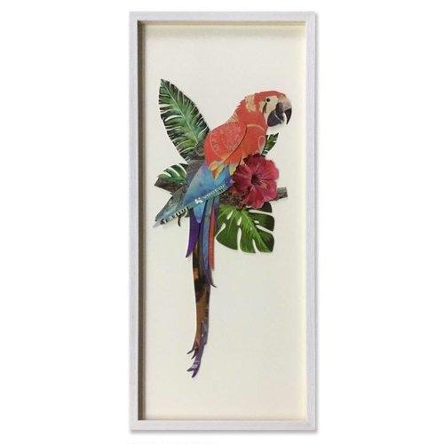 Paper Art Parrot 90x40 cm.