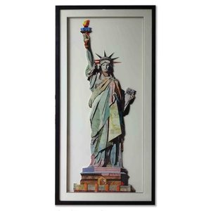 Paper Art Statue of Liberty 65x130 cm.