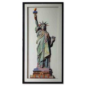 Paper Art Vrijheidsbeeld 65x130 cm.