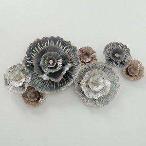 Wanddecoeatie Insula bloemen 92 cm.