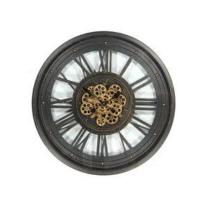 Radar wall clock Black 60 cm.