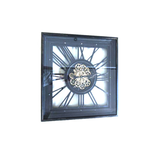 Square wall clock with rotating radar 80 cm.