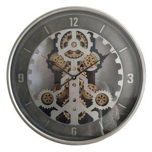Wall clock gears Silver 60 cm.