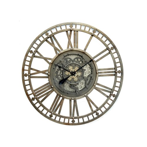 Mega large open wall clock with radar 110 cm.
