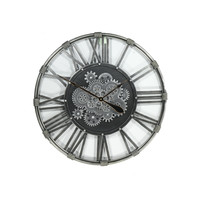Round open wall clock Industrie Style Black 80 cm.