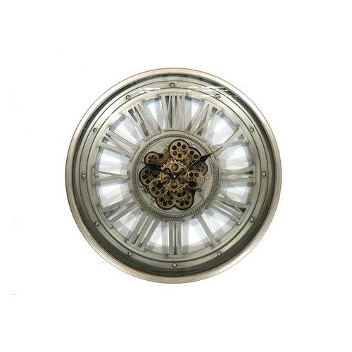 Round radar wall clock Greygold 80 cm.