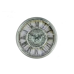 Gears clock Gray 46 cm.