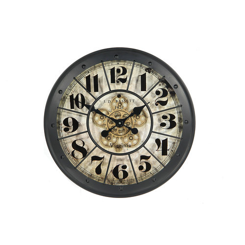 Wall clock with radar in the middle Black 80 cm.