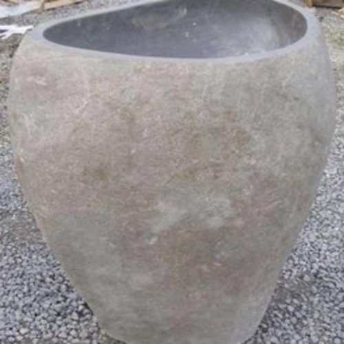 Fountain river stone hollowed out 60 cm high
