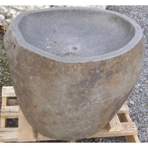 Fontein riviersteen uitgehold 90 cm.