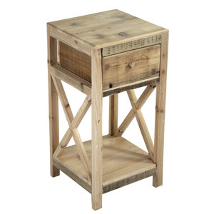 Plant table Rewo with drawer 60cm