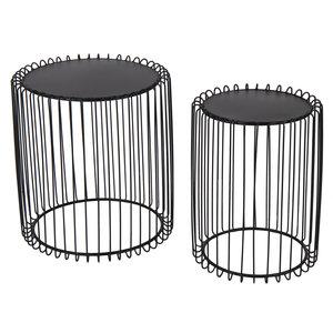 Plant table round set Eton metal
