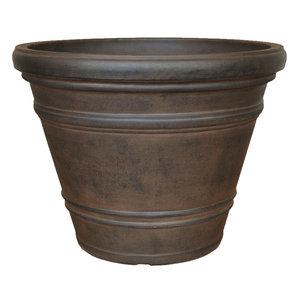 Flower pot round large Rinca 61cm rust color