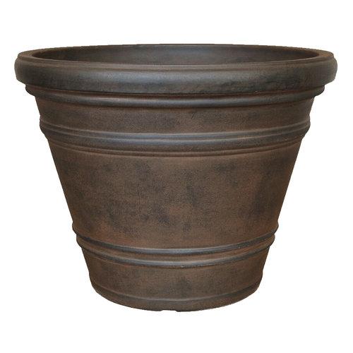 Flowerpot round large Rinca 82cm rust color