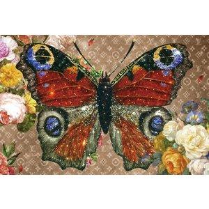 Glasschilderij vlinder 120x80 met effect